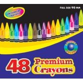 96 Units of BAZIC 48 Ct. PREMIUM QUALITY COLOR CRAYON - Chalk,Chalkboards,Crayons