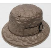 24 Units of Ladies' Rain Hat w/ Buckle - Bucket Hats