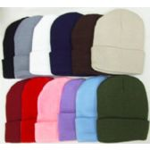 144 Units of Ski Hat Assorted Colors - Winter Beanie Hats