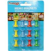 96 Units of 12PC MEMO MAGNETS - Straight Pins