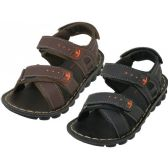 24 Units of Boy's Pu.Leather Upper Sandals - Boys Flip Flops & Sandals