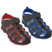 24 Units of Kid's Hiker Sandals - Boys Flip Flops & Sandals