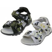 24 Units of Boy's Letters Printed Sport Sandals - Boys Flip Flops & Sandals