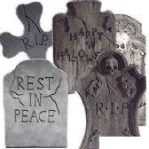 4 Units of 6 PIECE STYROFOAM TOMBSTONE ASSORTMENT SET - Halloween & Thanksgiving