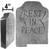 """12 Units of STYROFOAM """"REST IN PEACE"""" TOMBSTONES - Halloween & Thanksgiving"""