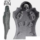 24 Units of STYROFOAM SKULL & ANGEL R.I.P. TOMBSTONES - Halloween & Thanksgiving