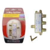96 Units of 3 Way Splitter Gold Packing