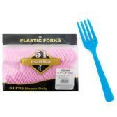 144 Units of 51 Piece Fork - Disposable Cutlery