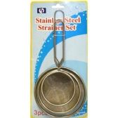 96 Units of 3PC STRAINER SET 7.5, 9.5, 11.5 CM - Strainers & Funnels