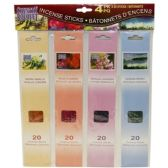 72 Units of 4PACK INCENSES ASST SCENTS - Incense