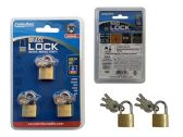 96 Units of Lock Brass 3pc 20mm - Padlocks and Combination Locks