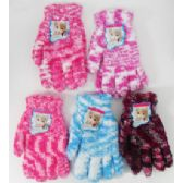 60 Units of Ladies' Fuzzy Gloves - Fuzzy Gloves