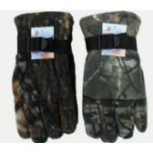 72 Units of Camoflage Heavy Fleece Gloves