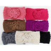 72 Units of Knit Head Band Assorted Colors - Ear Warmers