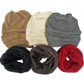 48 Units of Beanie/ Neck Warmer - Winter Scarves