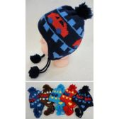 72 Units of Baby Fleece-Lined Knit Cap with Ear Flap [Cars]
