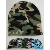 24 Units of Camo Beanie [4 Colors] - Winter Beanie Hats