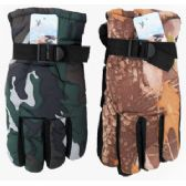 48 Units of Camouflage Ski Gloves - Ski Gloves