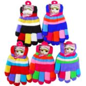 72 Units of Colorful Kids' Gloves - Kids Winter Gloves