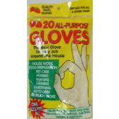 144 Units of 16pc Disposable Gloves - Hardware Miscellaneous