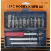 50 Units of 13 Piece Hobby Knife - Box Cutters and Blades