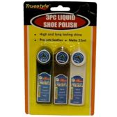 96 Units of 3PIECE LIQUID SHOE POLISH (25ml)