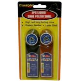 96 Units of 2 PIECE LIQUID SHOE POLISH 30ML