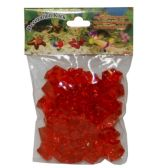 96 Units of PLASTIC DECOR COLOR RED