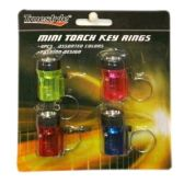 96 Units of 4PIECE MINI KEY RING TORCHES
