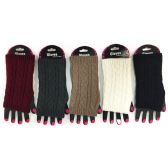 36 Units of Wholesale Cable Knitted Fingerless Gloves Assorted - Arm & Leg Warmers