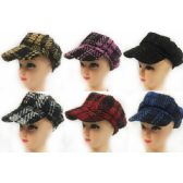36 Units of Wholesale Woman Newsboy Hats - Fedoras, Driver Caps & Visor