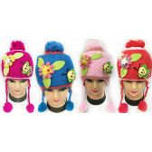 36 Units of Wholesale Kids Honey Bee and Flower Hats Assorted - Junior / Kids Winter Hats