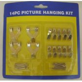 144 Units of 14pc Picture Hooks / Picture Hanging Kit