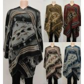 12 Units of Wrap-Around Shawl [Southwest Design] - Winter Pashminas and Ponchos