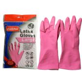 144 Units of Large Pink Rubber Glove - Cleaning Products