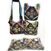 10 Units of Wholesale Nepal Hobo Bags Peace Sign Flower Assorted Colors