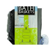 24 Units of Mesh Bath Baskets Set - Storage Holders and Organizers
