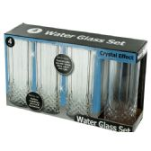 12 Units of Crystal Effect Plastic Water Glass Set - Glassware