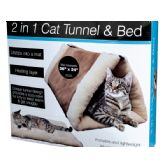 6 Units of 2 In 1 Cat Tunnel & Bed with Heating Layer