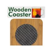 72 Units of Wooden Coaster with Basketweave Pattern - Storage Holders and Organizers