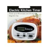 24 Units of Electric Kitchen Timer with Magnetic Clip - Kitchen > Accessories