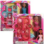 12 Units of ETHNIC 22 PIECE TRENDY'S FASHION SETS - Dolls