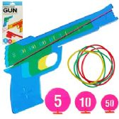 192 Units of RUBBER BAND GUNS W/ TARGETS - Toy Weapons
