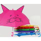 120 Units of Kid's Assorted Umbrella w/ Pointed Ears - Umbrellas & Rain Gear