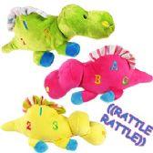 36 Units of PLUSH DINOSAUR RATTLES - Baby Accessories