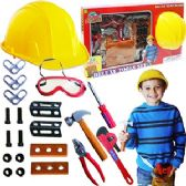 8 Units of 22 PIECE DELUXE TOOL SETS W/HARD HAT - Toy Sets