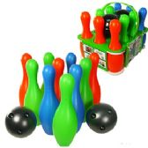 12 Units of PLASTIC BOWLING SETS W/CARRYING CASE - Sports Toys