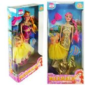 24 Units of 4 PIECE MERMAID FASHION DOLLS. - Dolls