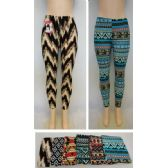 72 Units of Ladies Fashion Stretch Leggings [Assorted Prints] - Womens Leggings
