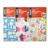 144 Units of 3 PieceMicroFiber Cleaning Cloth - Cleaning Products